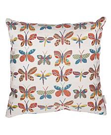 """Outdoor Butterfly Lollipop 22"""" x 22"""" Decorative Pillow"""