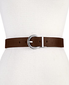 Calvin Klein Reversible Round-Buckle Belt, Created for Macy's