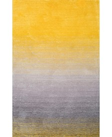 Ombre Shag HJOS01A Yellow 4' x 6' Area Rug