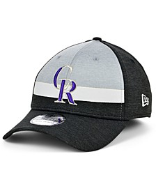 Colorado Rockies Striped Shadow Tech 39THIRTY Cap