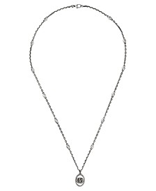 """Double G 27-1/2"""" Pendant Necklace in Sterling Silver"""