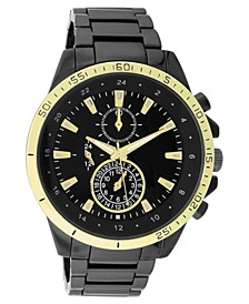 INC Men's Chronograph Gunmetal-Tone Bracelet Watch 48mm, Created for Macy's