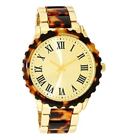 INC Women's Gold-Tone & Tortoise-Look Bracelet Watch 40mm, Created for Macy's