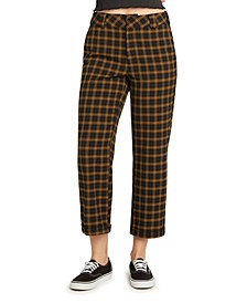Juniors' Plaid Cropped Pants