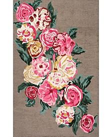 "Rose Bouquet AHPE01A Tan 7'6"" x 9'6"" Area Rug"