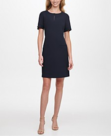 Petite Keyhole Shift Dress