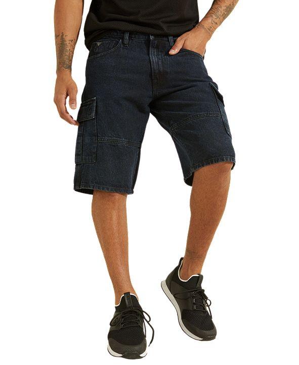 GUESS Men's Denim Cargo Shorts