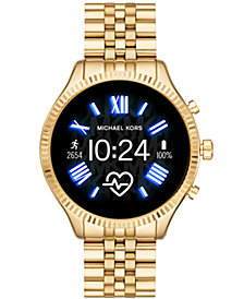 Michael Kors Access Gen 5 Lexington Gold-Tone Stainless Steel Bracelet Touchscreen Smart Watch 44mm, Powered by Wear OS by Google™