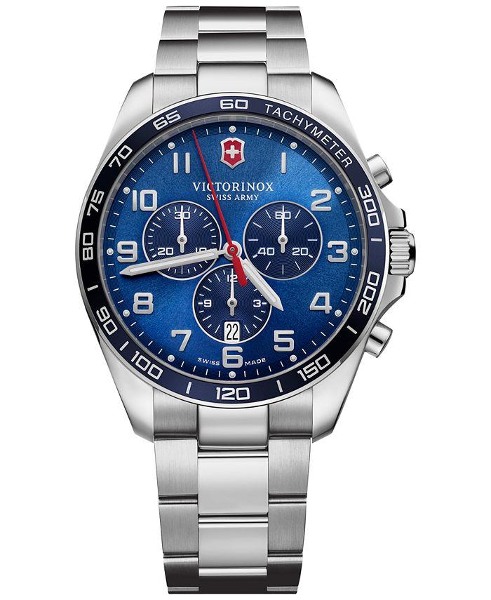 Victorinox Swiss Army - Men's Chronograph FieldForce Classic Stainless Steel Bracelet Watch 42mm