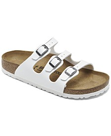 Women's Florida Birko-Flor Nubuck Soft Footbed Sandals from Finish Line