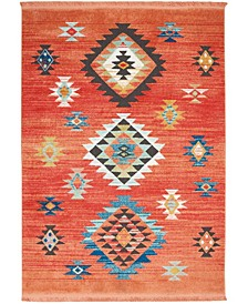 "Navajo NAV07 Red 3'11"" x 6'2"" Area Rug"