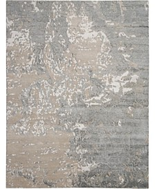 "Silk Shadows SHA17 Sand 5'6"" x 7'5"" Area Rug"