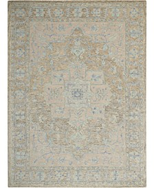 "Jazmine JAZ01 Gray and Blue 7'9"" x 9'9"" Area Rug"