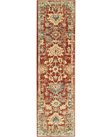 """Traditional Antique TRQ02 Red 2'2"""" x 7'6"""" Runner Rug"""