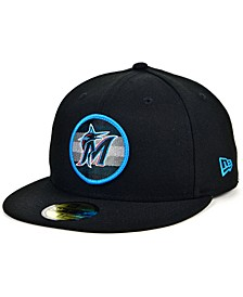Men's Miami Marlins Circle Fade 59FIFTY-FITTED Cap