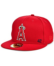 Men's Los Angeles Angels Jackie Robinson 50th Patch 59FIFTY-FITTED Cap