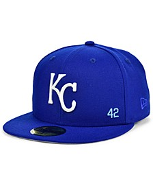 Kansas Men's City Royals Jackie Robinson 50th Patch 59FIFTY-FITTED Cap