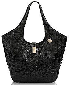 Carla Melbourne Embossed Leather Tote
