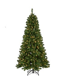 6.5 ft. Mixed Pine Tree with Clear Lights