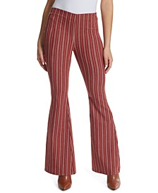 Striped Flared Jeans