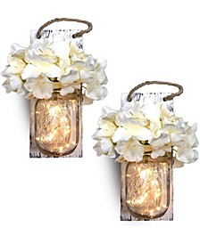 2-Pc. Mason Jar Sconce Set