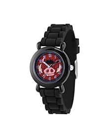 Disney Lion King Timon Boys' Black Plastic Watch 32mm