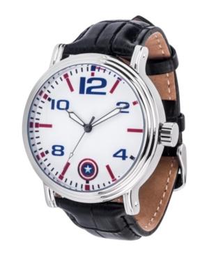 Marvel Captain America Men's Silver Alloy Vintage Watch 44mm