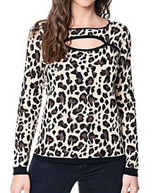Women's Cut Out Neck Sweater