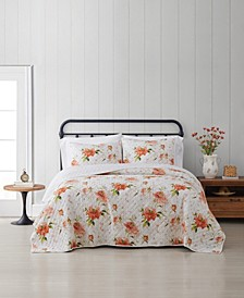 Veronica Floral Full/Queen 3-Piece Quilt Set