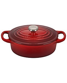 1-Qt. Signature Enameled Cast Iron Oval Dutch Oven