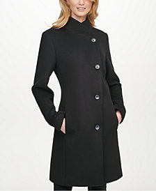DKNY Asymmetrical Walker Coat, Created for Macy's