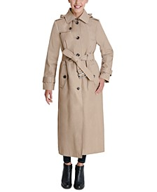 Hooded Maxi Trench Coat