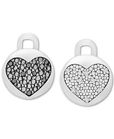Black and White Diamond Rotating Earring Charms (1/10 ct. t.w.) in Sterling Silver