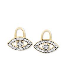 Diamond Evil Eye Earring Charms (1/10 ct. t.w.) in 14k Gold