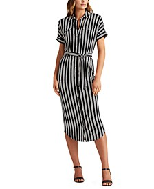 Petite Striped Shirtdress