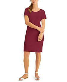 Plus Size Cotton Button-Shoulder Dress, Created for Macy's