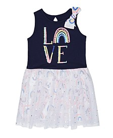 Little Girls Rainbow Love Dress