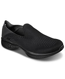 Women's GOwalk 4 - Convertible Slip-on Walking Sneakers from Finish Line