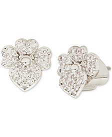 Pavé Flower Stud Earrings