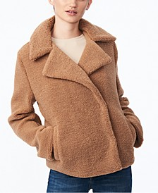 Juniors' Faux-Fur Teddy Coat, Created for Macy's