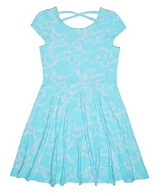 Big Girls Butterfly Tie Dye Dress