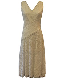 Lace A-Line Midi Dress