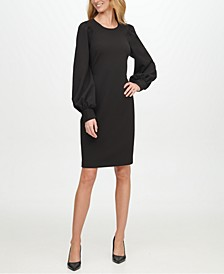 Scuba-Crepe Sheath Dress