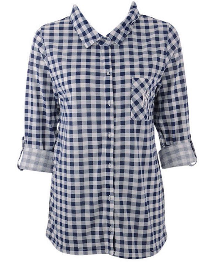 Lids - Women's New York Yankees  Wanderer Plaid Shirt