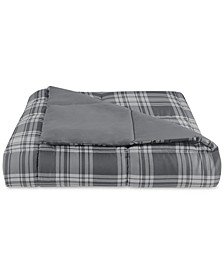 Essentials by Martha Stewart Collection Reversible Plaid King Comforter, Created for Macy's