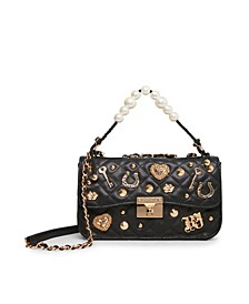 Women's Charming Imitation Pearl Swag Flap Bag