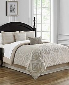 Morovan Reversible Queen 4 Piece Comforter Set