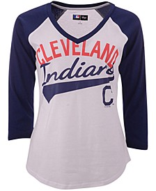 G-III Sports Cleveland Indians Its A Game Raglan T-Shirt