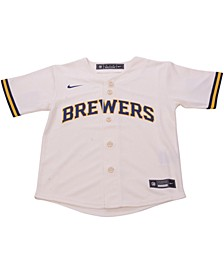 Milwaukee Brewers Toddler Official Blank Jersey