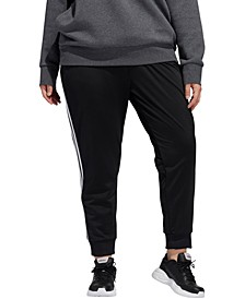 Plus Size Full-Zip Tricot Jogger Pants